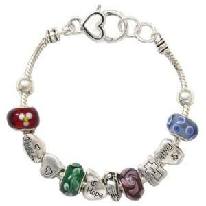 Faith Hope Love themed Charm Bracelet
